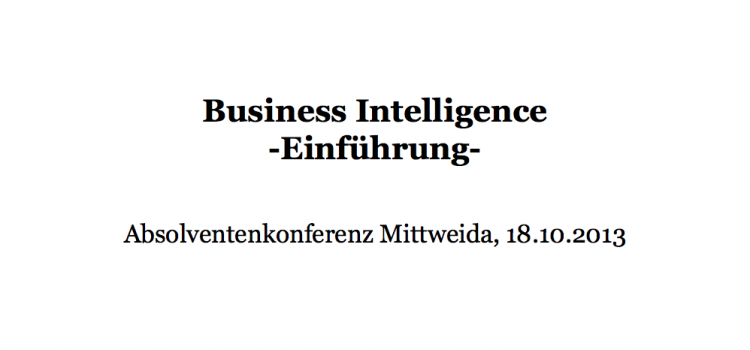 Was ist Business Intelligence?